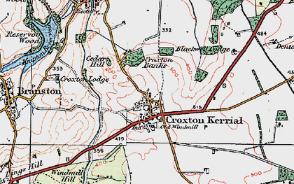 Old map of Tipping's Lodge in 1921