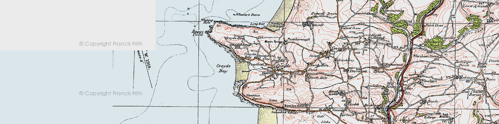 Old map of Whiting Hole in 1919