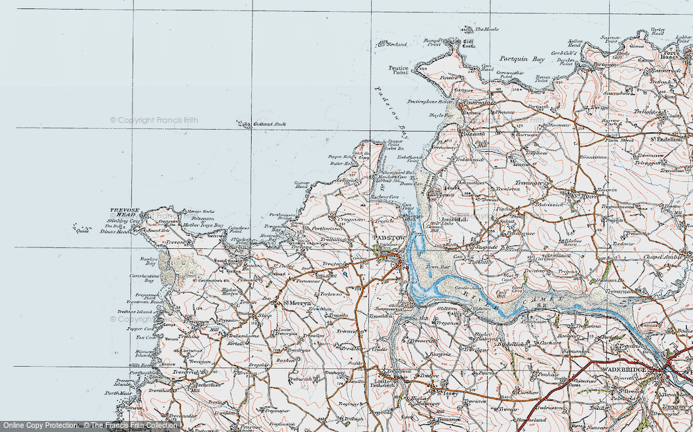 Old Map of Historic Map covering Lellizzick in 1919