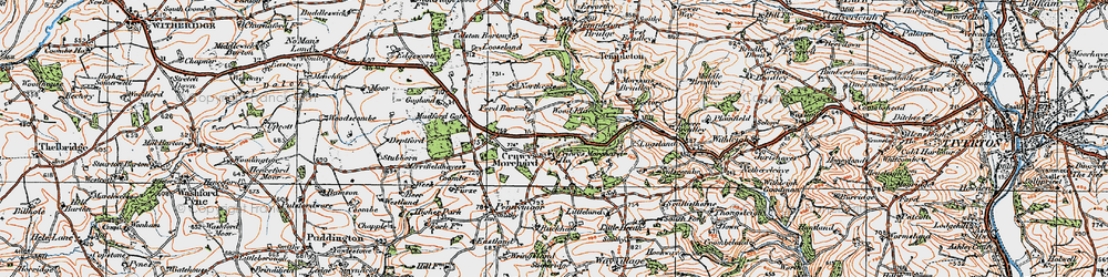 Old map of West Ruckham in 1919