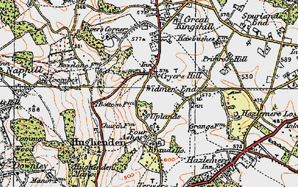 Old map of Cryers Hill in 1919