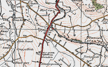 Old map of Crymych in 1922