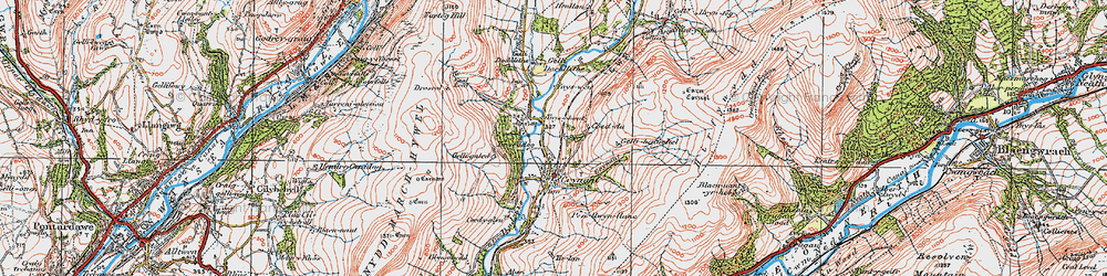 Old map of Crynant in 1923