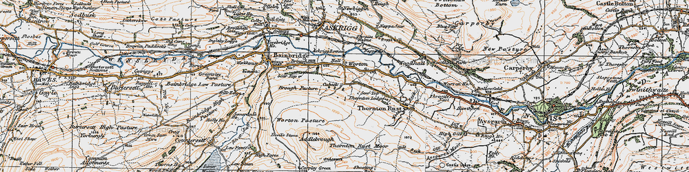 Old map of Addlebrough in 1925