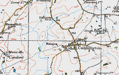 Old map of Cublington in 1919