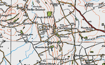 Old map of Cucklington in 1919