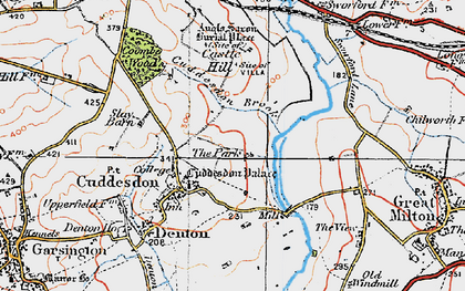 Old map of Cuddesdon in 1919