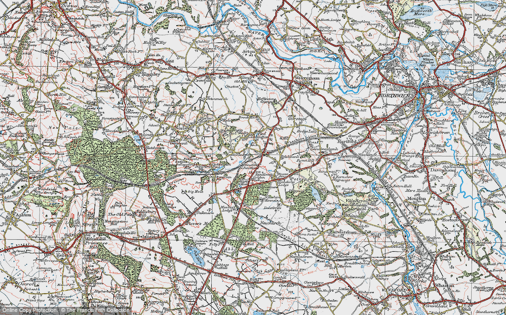Old Map of Cuddington, 1923 in 1923