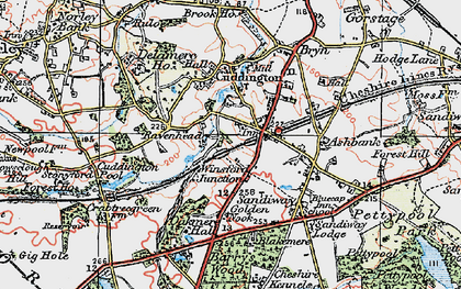 Old map of Cuddington in 1923