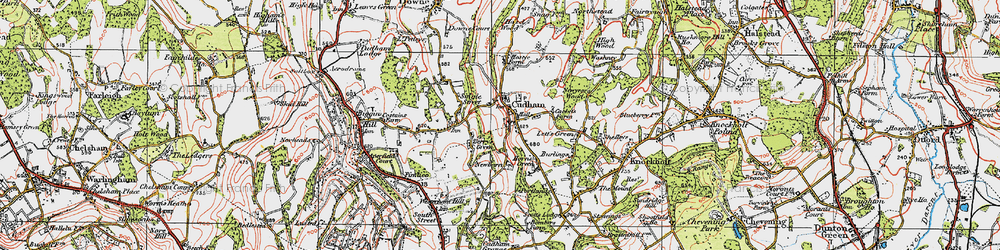 Old map of Cudham in 1920