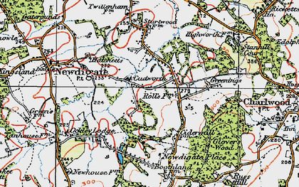 Old map of Cudworth in 1920