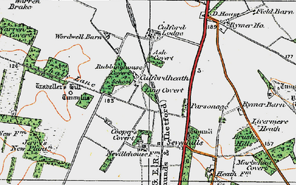 Old map of Ling Covert in 1920