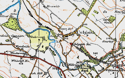 Old map of Whinfell Ho in 1925
