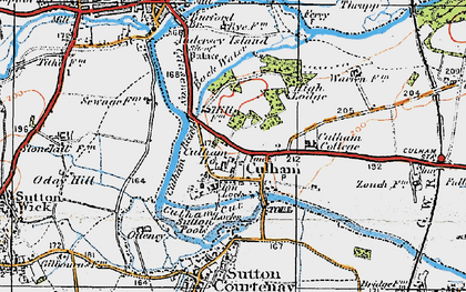 Old map of Culham in 1919