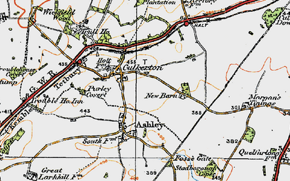 Old map of Wickfield Wood in 1919