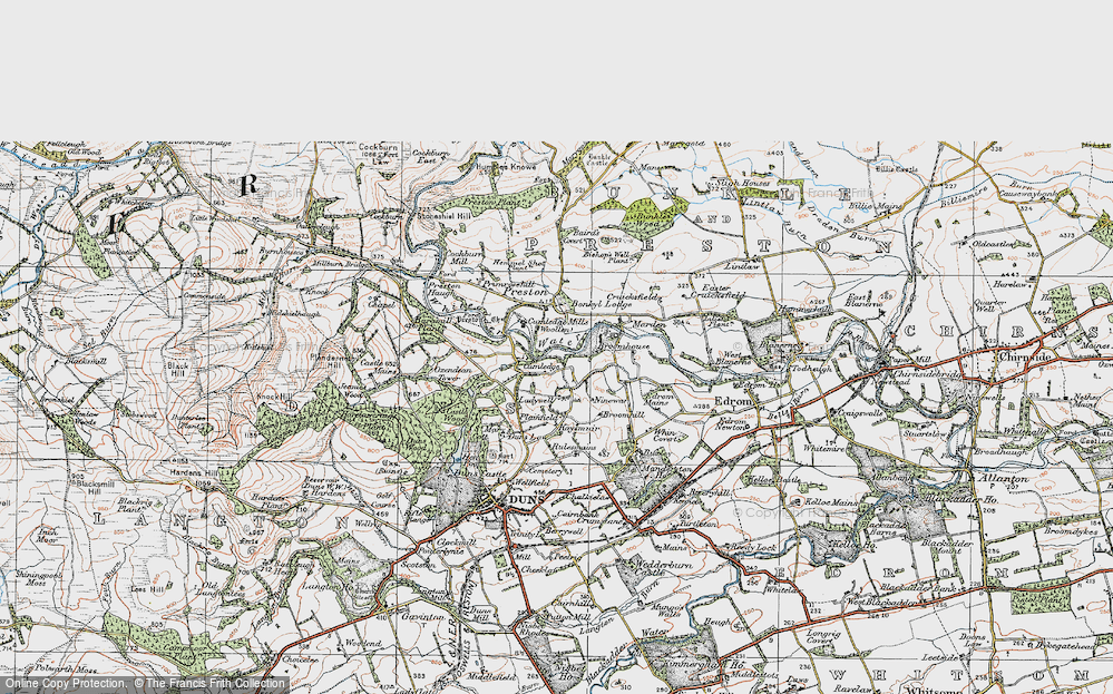 Old Map of Historic Map covering Baramill Plantn in 1926
