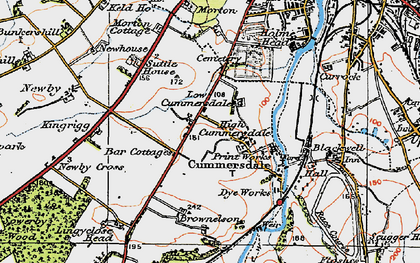 Old map of Cummersdale in 1925