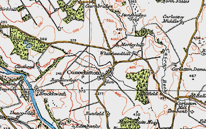 Old map of Whitehead Hill in 1925
