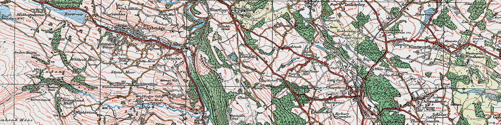 Old map of Wharncliffe Chase in 1924