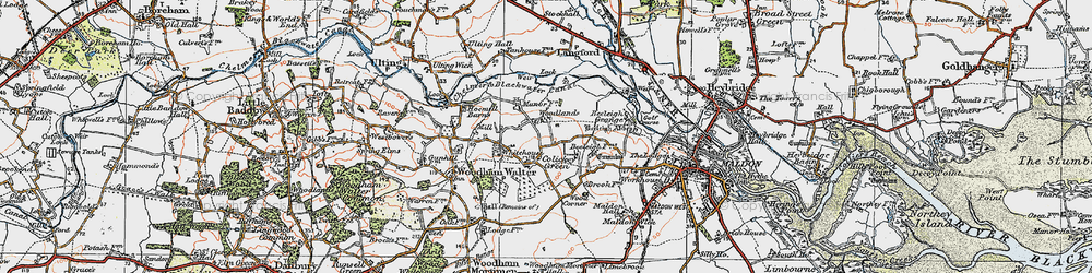 Old map of Wood Corner in 1921