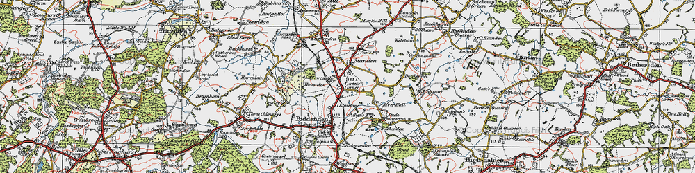 Old map of Apsley in 1921