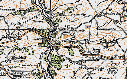 Old map of Wheeldon in 1919