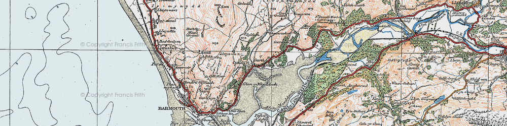 Old map of Cutiau in 1922