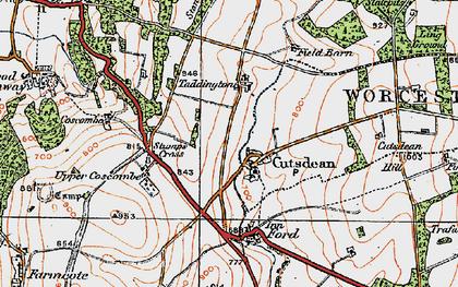 Old map of Cutsdean in 1919