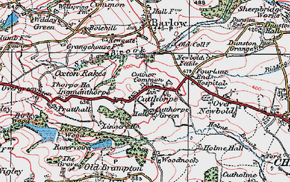 Old map of Woodnook in 1923
