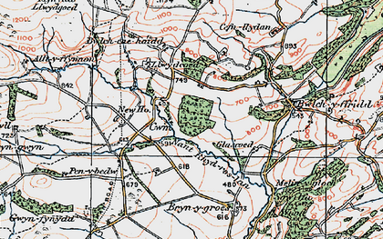 Old map of Alltyffynnon in 1921