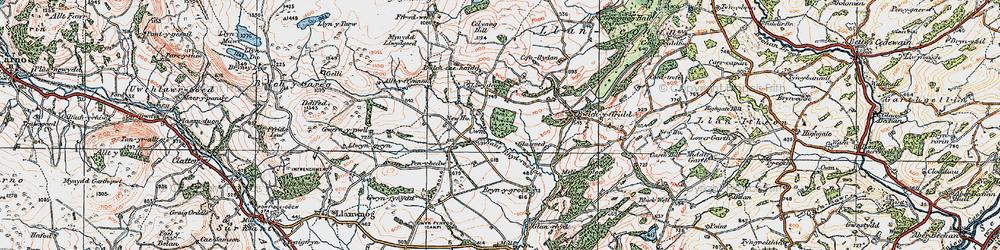 Old map of Alltyffynnon in 1921