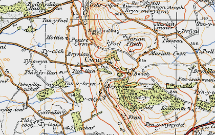 Old map of Cwm in 1922