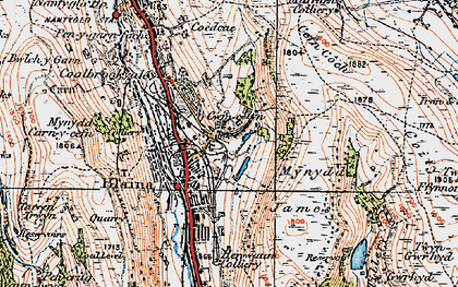 Old map of Mynydd James in 1919