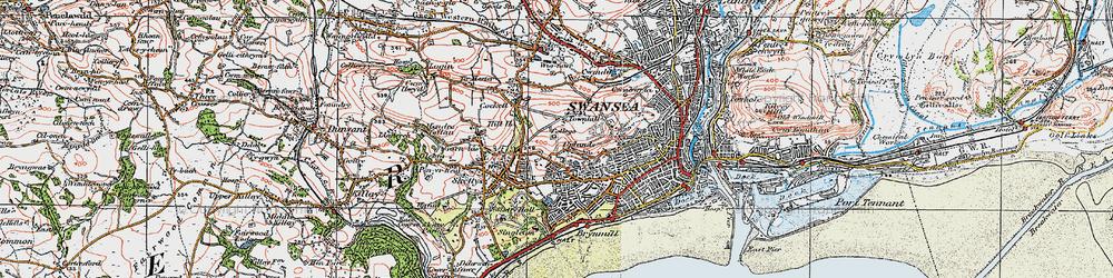 Old map of Cwm Gwyn in 1923