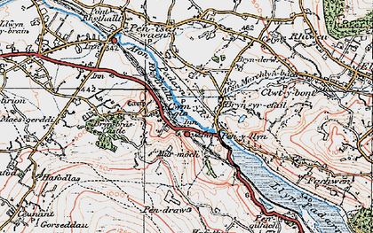 Old map of Cwm-y-glo in 1922