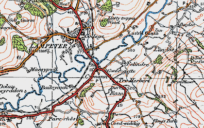 Old map of Cwmann in 1923