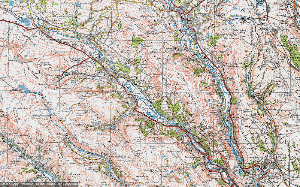 Old Map of Cwmbach, 1923 in 1923