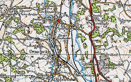 Old map of Cwmbran in 1919