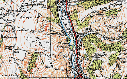 Old map of Cwmcarn in 1919