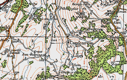 Old map of Bailey Glace in 1919