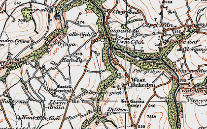 Old map of Cwmcych in 1923