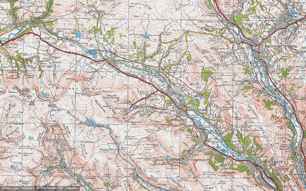 Old Map of Cwmdare, 1923 in 1923