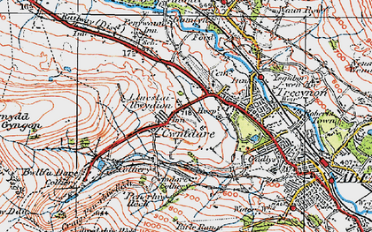Old map of Cwmdare in 1923