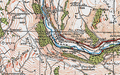 Old map of Ynys Hywel in 1919
