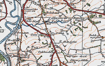 Old map of Abercyfor Uchaf in 1923