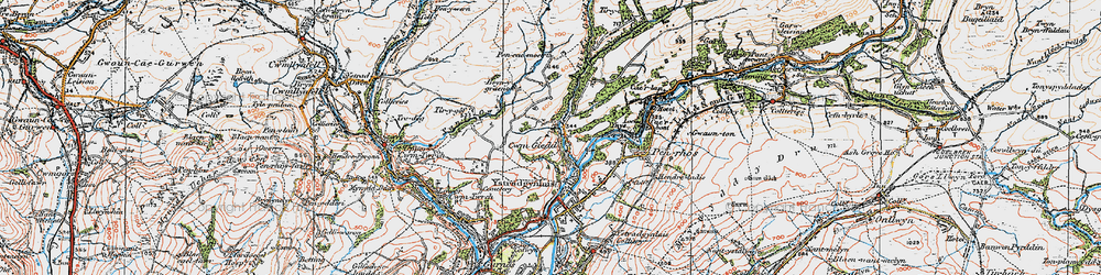 Old map of Cwmgiedd in 1923