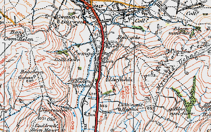 Old map of Bancbryn in 1923