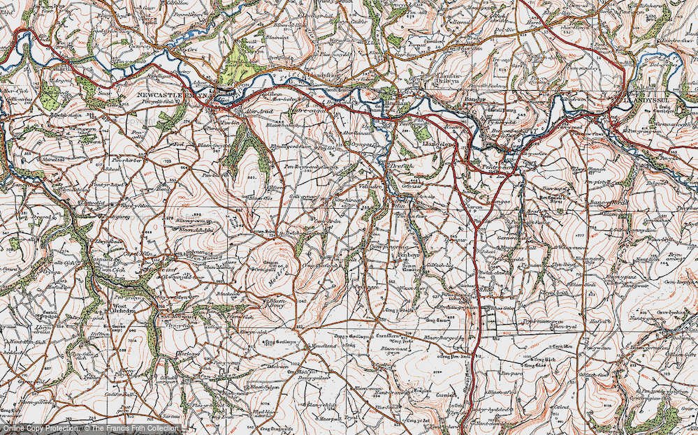 Old Map of Historic Map covering Tomenseba in 1923