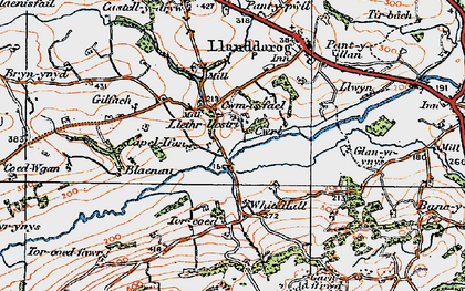 Old map of White Hall in 1923