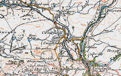 Old map of Cwmllynfell in 1923